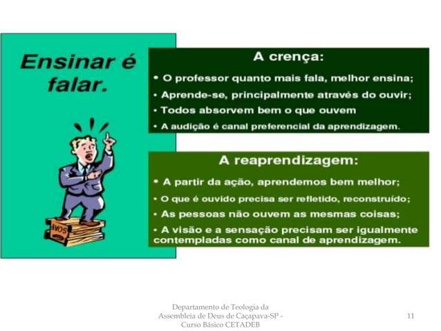 Departamento de Teologia da Assembleia de Deus de Caçapava-SP - Curso Básico CETADEB 11