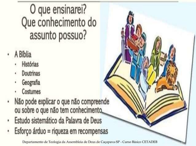 Departamento de Teologia da Assembleia de Deus de Caçapava-SP - Curso Básico CETADEB 16