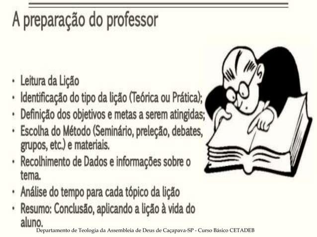 Departamento de Teologia da Assembleia de Deus de Caçapava-SP - Curso Básico CETADEB 19
