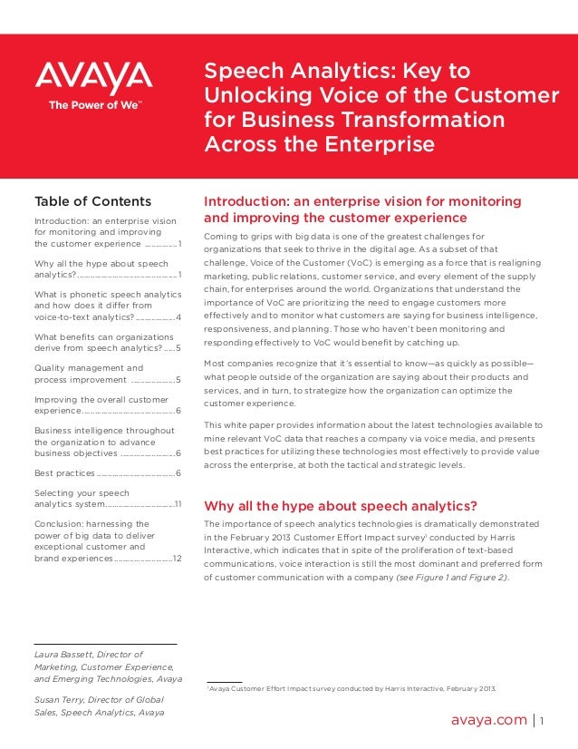 Introduction: an enterprise vision for monitoring and improving the customer experience Coming to grips with big data is o...