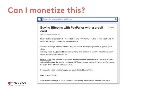 Let's break it down Writing a FB note - 15 minutes Posting on two Bitcoin FB groups - 2 minutes 1 2