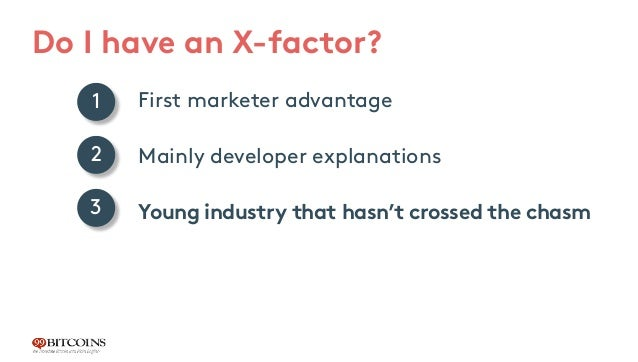 First marketer advantage Mainly developer explanations Young industry that hasn't crossed the chasm 1 2 3 Do I have an X-f...