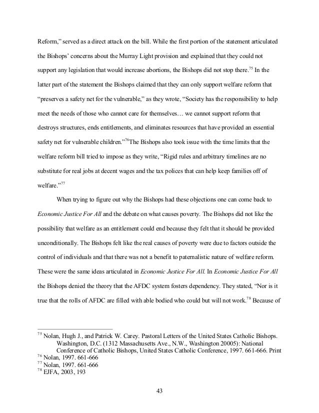 Thesis statement welfare reform child care cheap masters literature review examples