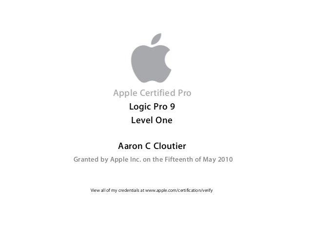 Logic Certification Certificate