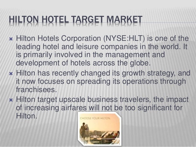 pricing strategies of hilton hotels We provide superior pricing with a variety of manufacturer programs for the food and beverage products required to  hilton supply management provides high.