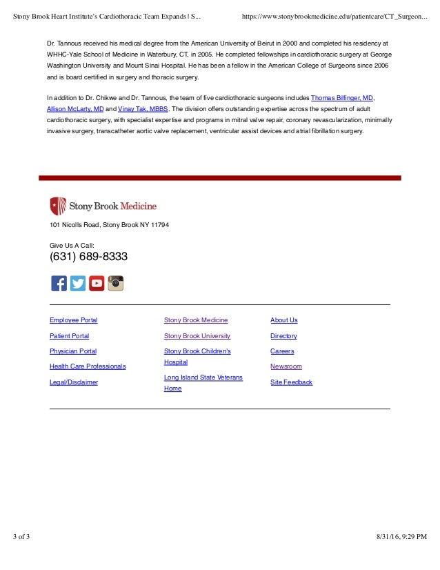 Stony Brook Heart Institute's Cardiothoracic Team Expands | Stony Bro…