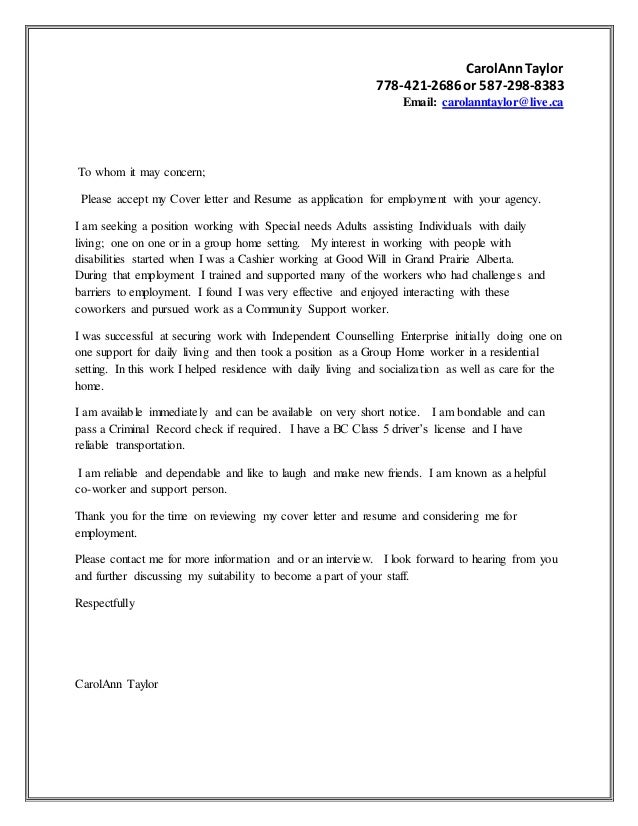Carol ann taylor- Cover letter-Oct. 2016-ES