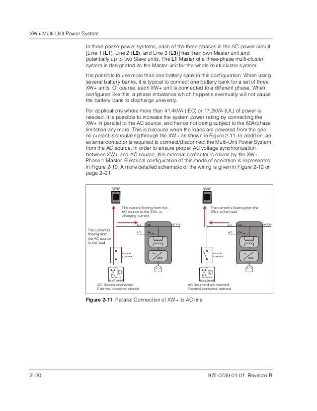 conext xw multi unit power system design guide (975 0739 01 01_rev b) Gateway M 6848 at Xw 6848 Na Wiring Diagram
