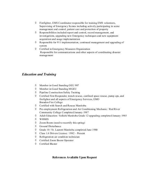 pf resume sept 2015 to present