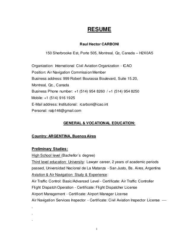 Resume-Raul Carboni-Jan 2015
