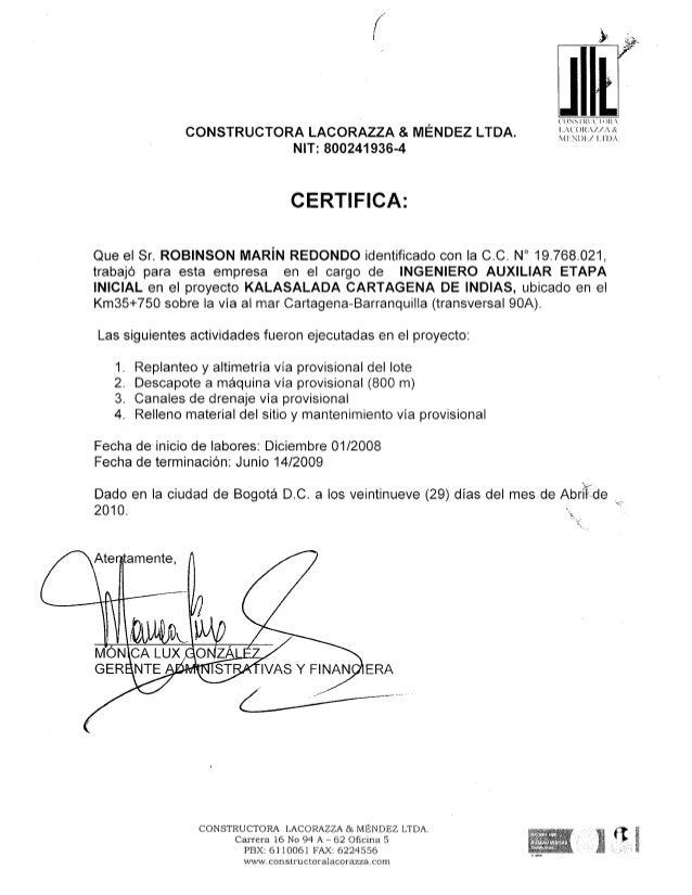C. L. CONSTRUCTORA LACORAZZA
