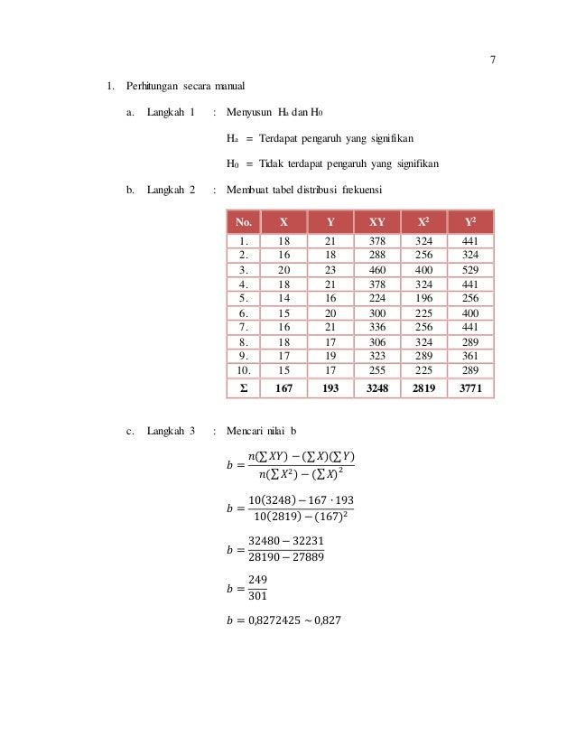 Contoh Skripsi Regresi Sederhana Contoh Soal Dan Materi Pelajaran 8