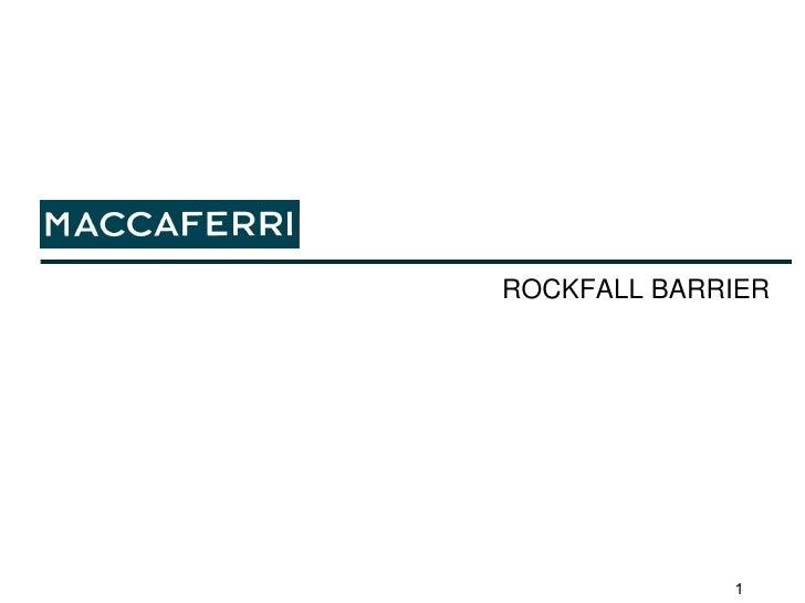ROCKFALL BARRIER