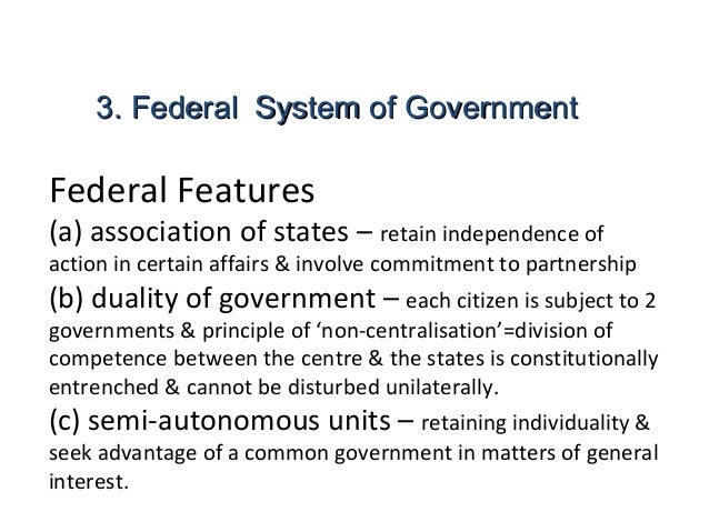 4 features of a state