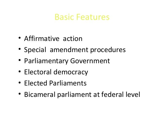 features of parliamentary democracy