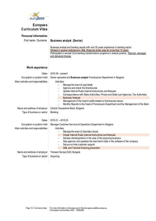 Niedlich Business Analyst Lebenslauf Dokument Fotos ...