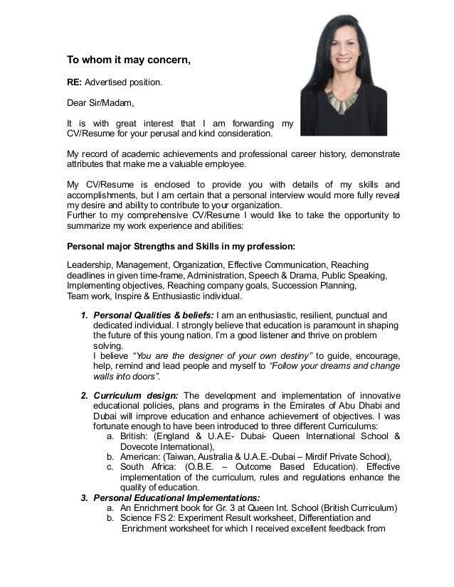 Cover Letter Dear Sir Madam Whom May Concern
