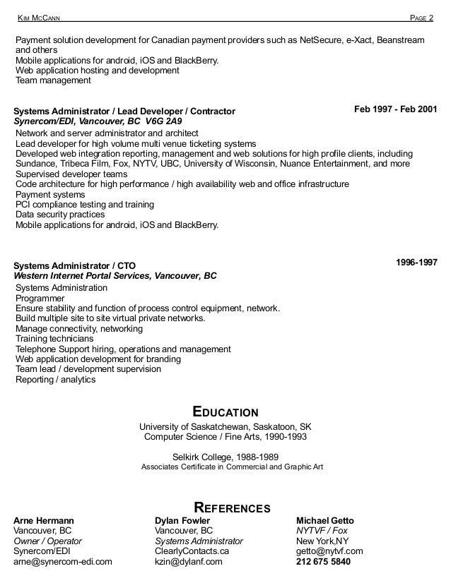 Kim McCann CV and Contractor Bio Slide 2