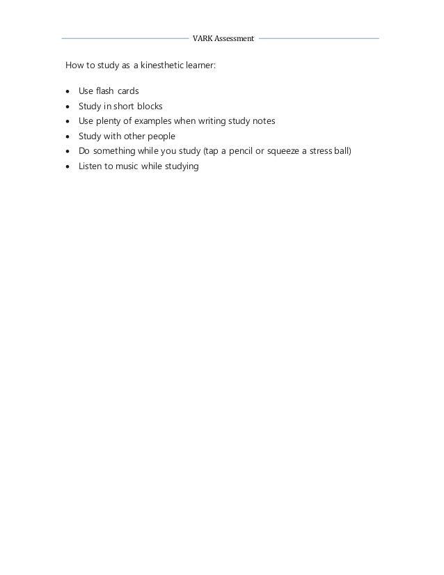 vark assessment tool
