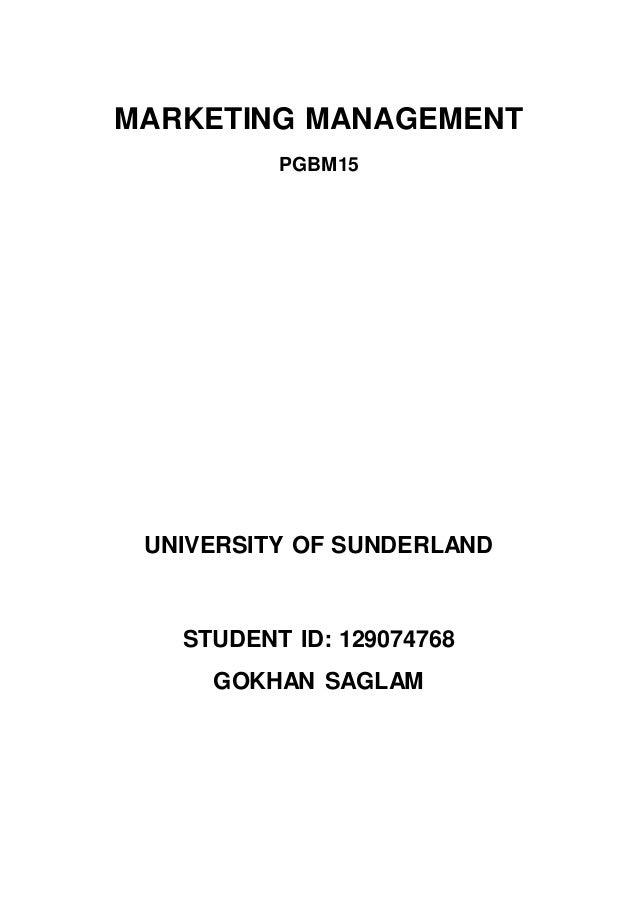 Marketing Essay Mba Marketing Management Pgbm University Of Sunderland Student Id   Gokhan Saglam