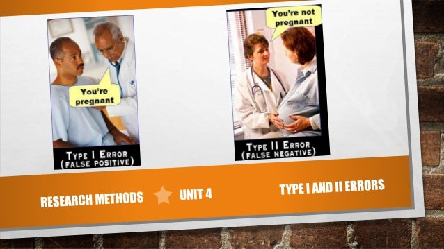 TYPE I AND II ERRORS • TYPE I ERROR IS A FALSE POSITIVE, OR WHEN YOU REJECT THE NULL HYPOTHESIS AND IT'S ACTUALLY TRUE • T...