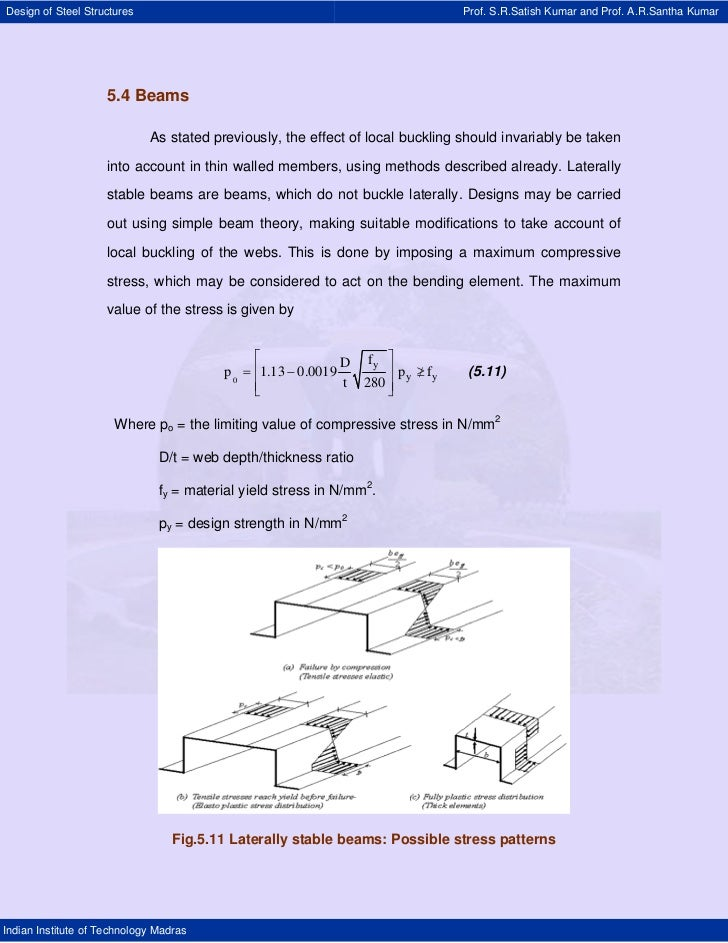 Design of Steel Structures                                                      Prof. S.R.Satish Kumar and Prof. A.R.Santh...