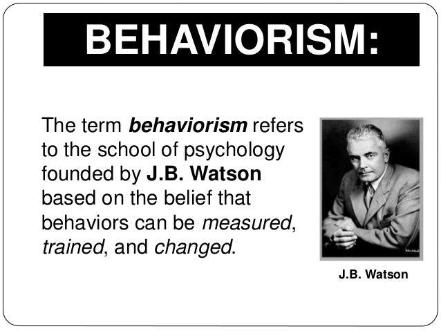 behaviorism theory of psychology The study of human behavior is diverse and many studies have been done trying to find more about human behavior many researchers have concluded.