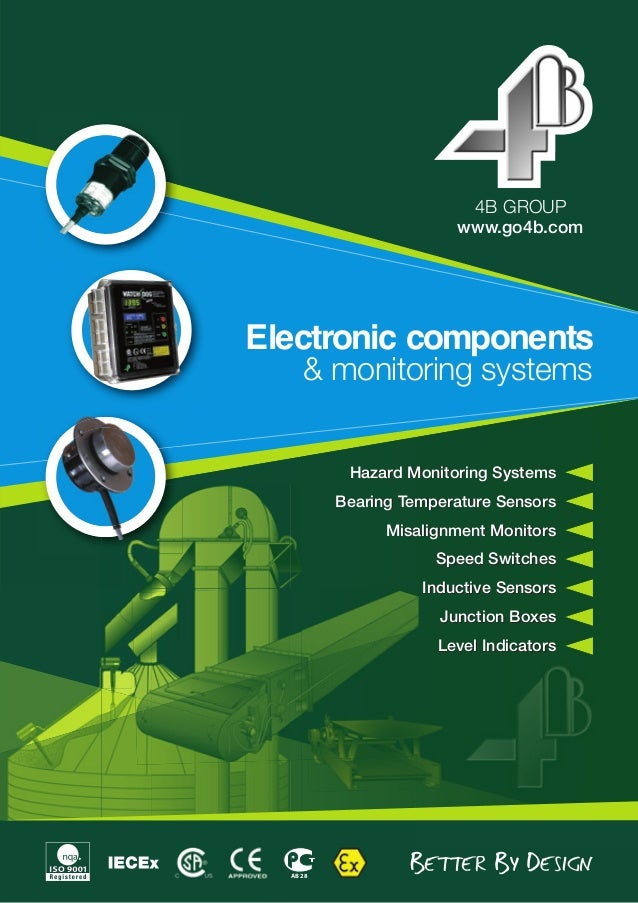 www.go4b.com 4B GROUP Electronic components & monitoring systems АВ 28 Hazard Monitoring Systems Bearing Temperature Senso...