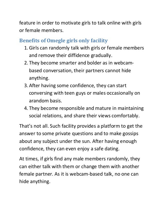 omegle only female