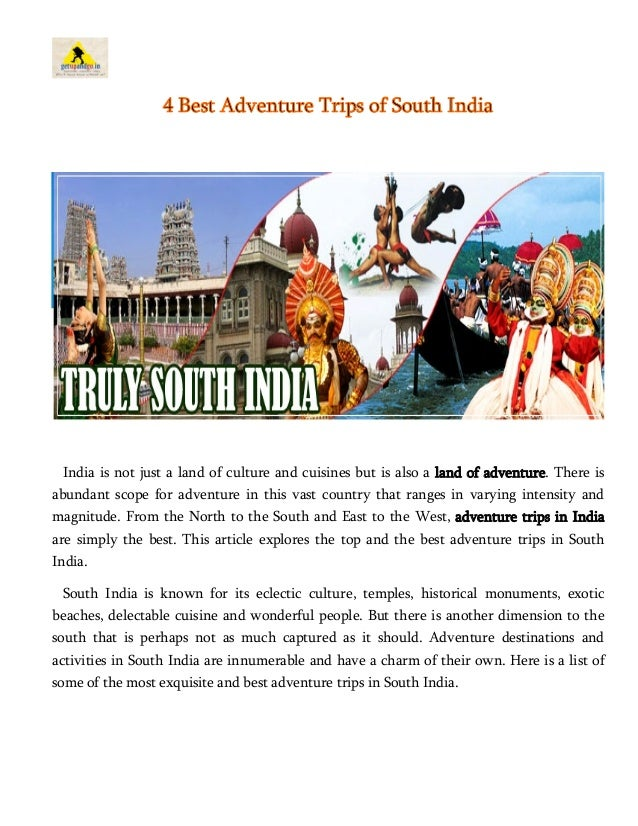 history of adventure tourism in india