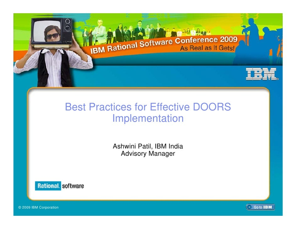 Best Practices for Effective DOORS                                    Implementation                                    As...