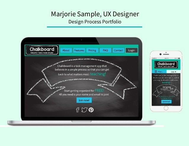 Marjorie Sample, UX Designer Design Process Portfolio