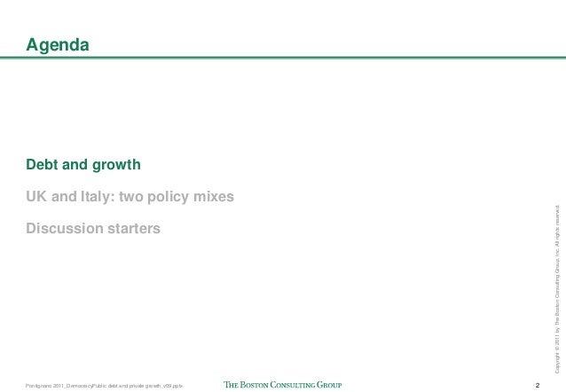 Pontignano 2011_DemocracyPublic debt and private growth Slide 3