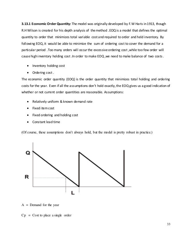 economic order quantity model eoq and the just in time model jit essay