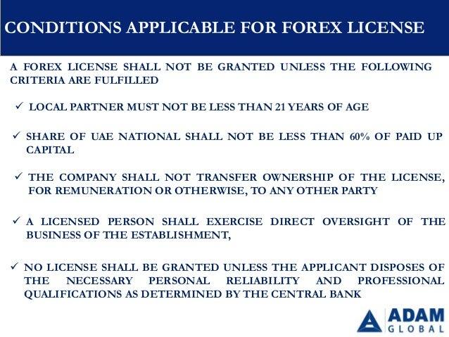 Forex license