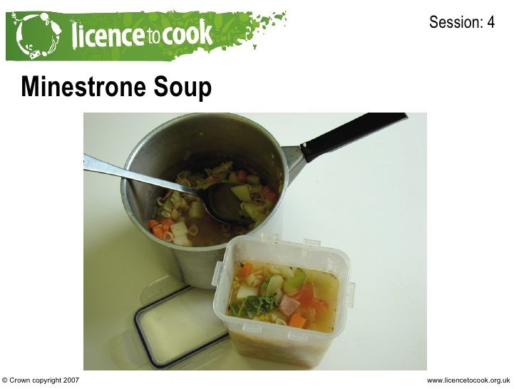 Minestrone Soup Session: 4