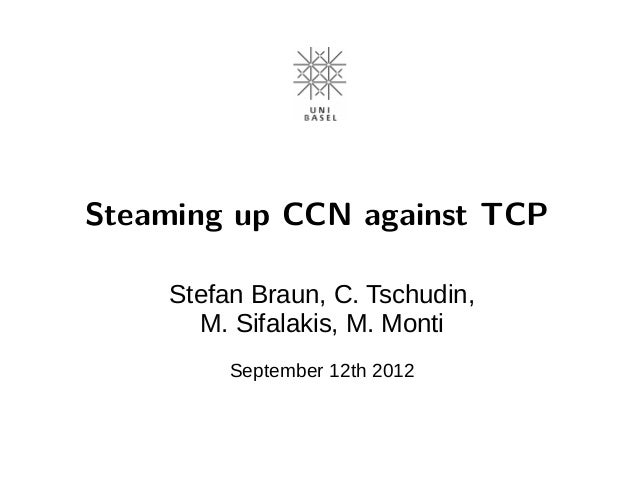 Steaming up CCN against TCP