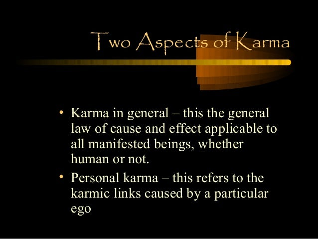 the law of karma essay