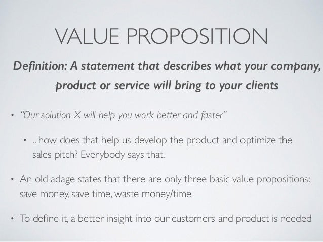 Business For Engineers Part 4 Value Proposition