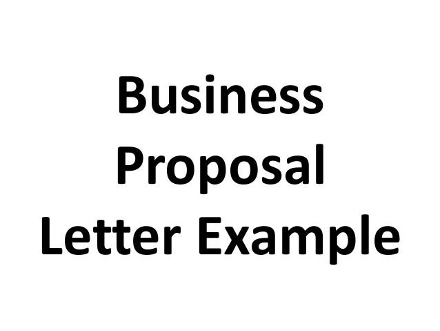 business proposal letter example – Sample Business Proposal Letters