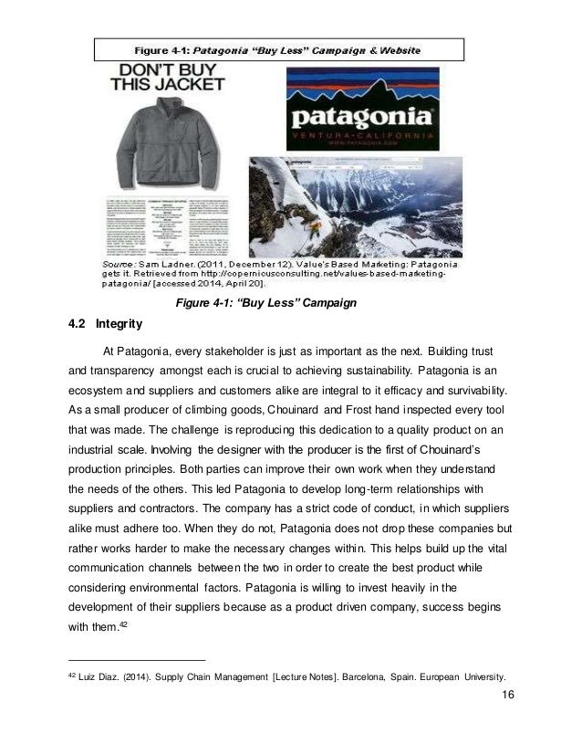 patagonia sustainability Are patagonia fleeces sustainable think about the following an important feature of sustainability is 'closing the loop' - that is, using the waste of.