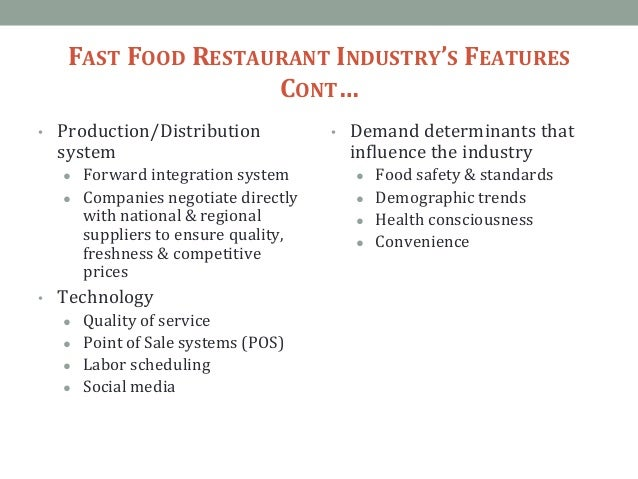 Bargaining Power Of Buyers In Fast Food Industry
