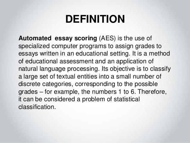 Robot definition essay format