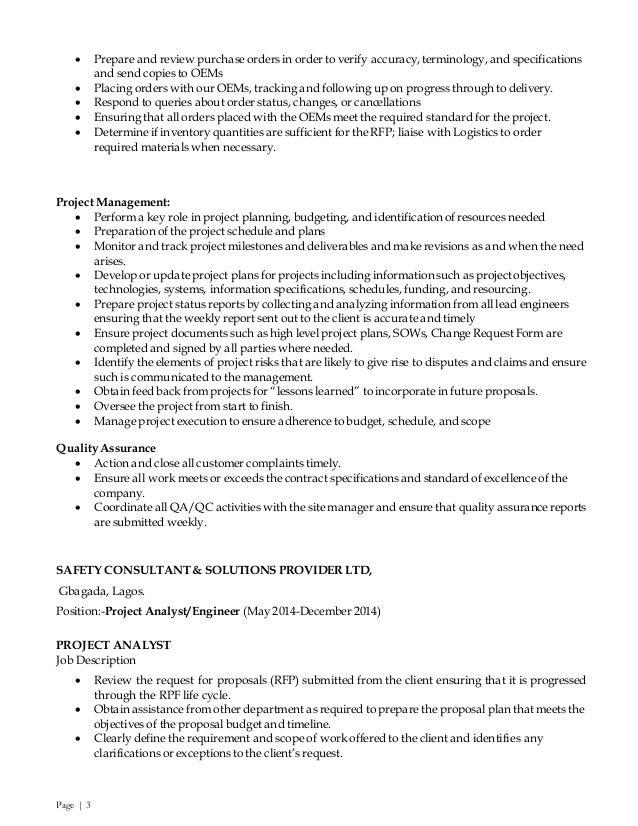 OLANREWAJU'S CV Slide 3