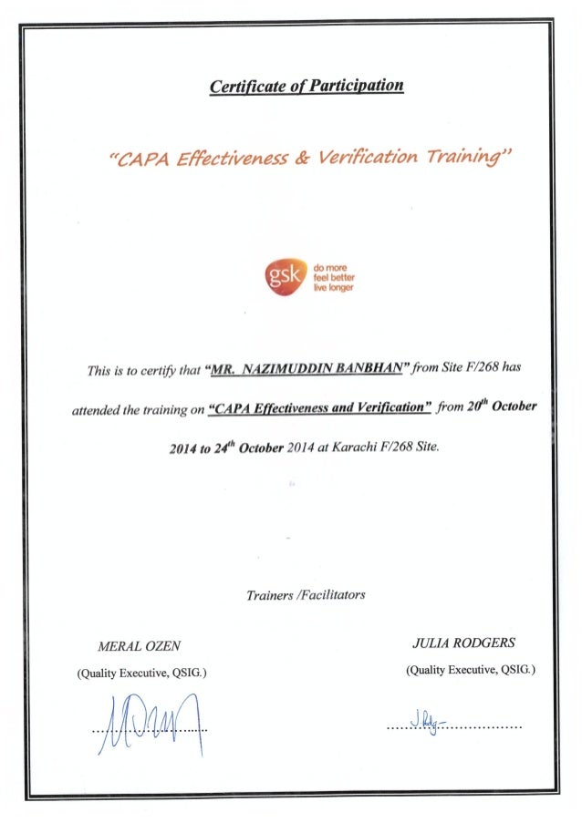 capa certification slideshare upcoming