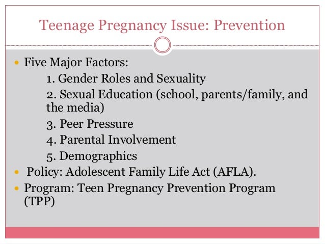 teenage pregnancy societyts role