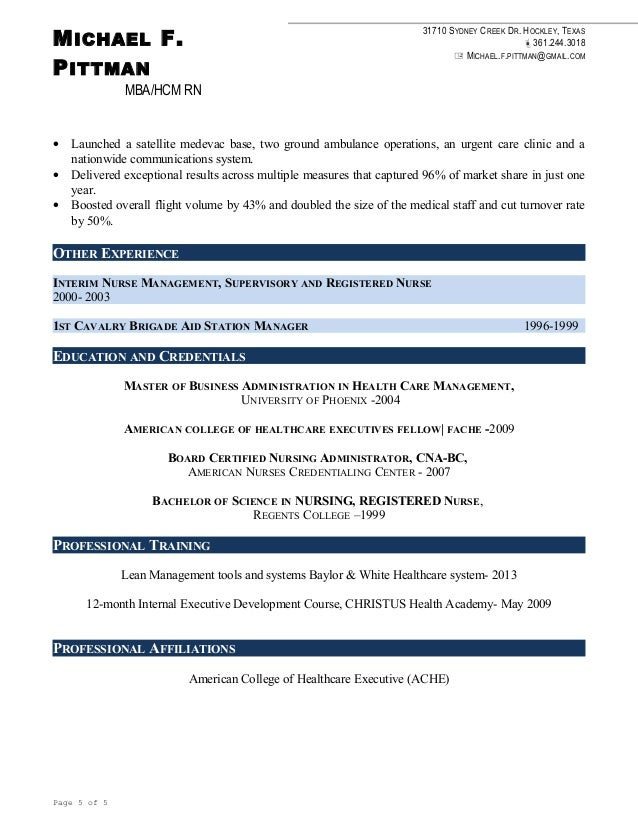 Michael Pittman Resume 2016