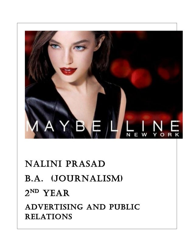 NaliNi Prasad B.a. (jourNalism) 2Nd year advertisiNg aNd PuBlic relatioNs