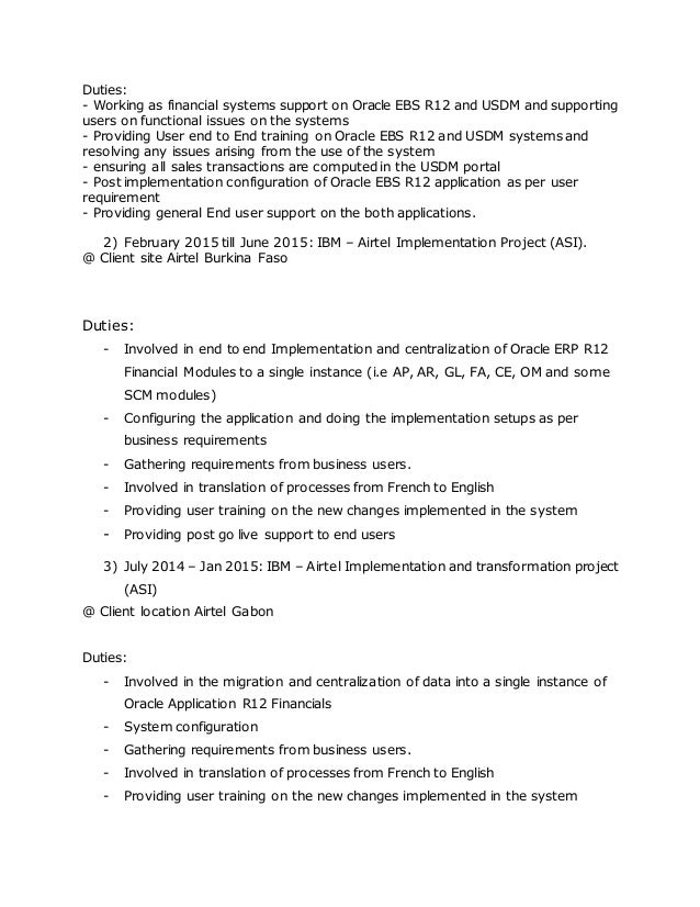 Oracle Functional Consultant Cover Letter] Oracle Hrms Consultant ...