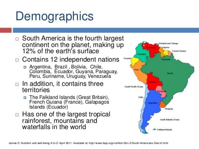 the demographics of chile in south america Stretching along south america's pacific coast, chile is a country full of contrasts this diversity is represented in chilean cuisine, with its multiple influences from the people who have made chile their home chilean cooking is also a product of its geography corn, potatoes, wine grapes.
